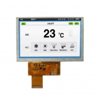 Quality 6.2Inch 640x320 Mono Tft Ips Display , 16.7M Color Tft Color Display wholesale