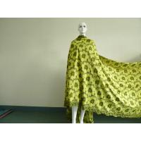 Quality Green+Yellow Korean Lace Fabric Eco-Friendly For Ladies Skirts wholesale