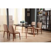 luxury rectangle wooden dining table with metal leg