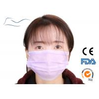China Cheap 3 Ply Pink Non-woven Dental Surgical Disposable Face Mask With Earloop on sale