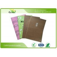 Quality Eco Friendly Stationery Printed Bespoke Exercise Books With Kraft Paper Cover wholesale