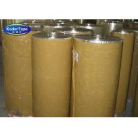China Self Adhesive Tape Jumbo Rolls Brown BOPP Pressure Sensitive 36-90 Micron Thickness on sale