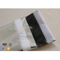 Quality 28 x 32cm Fireproof Document Bag with Silver + Black Carbon Fabric Inside wholesale