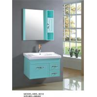 Quality 80 X 49 / cm small wall mounted bathroom cabinet with mirror , customized door panel single bathroom vanity cabinets wholesale