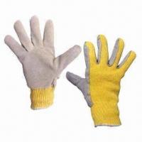 Quality Cow Split DuPont Kevlar Knitted Leather Gloves with Heat Resistant and Anti-Abrasion wholesale