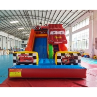 China 0.55mm PVC Commercial Inflatable Slide Crazy Car Bounce House on sale