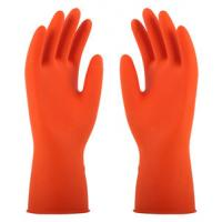China Flocklined Rubber Household Latex Glove With BV Cetification on sale
