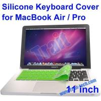 China Silicone Keyboard Cover Dust Cover Protector Keyboard Skin For Apple Macbook Pro/Air 11(Green) on sale