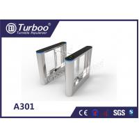 Quality ISO 9001 RFID Security Gate Turnstile Card Reader / Glass Security Barriers wholesale