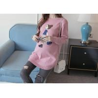Quality Fashion Pregnant Womens Knit Pullover Sweater BSCI Factory Produced In China Customed wholesale