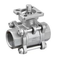 Quality Hygienic Sanitary SS304,316L Three Piece Ball Valves With iso5211 High Mounting Pad wholesale