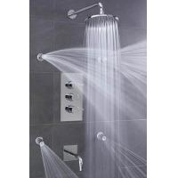 Quality Concealed 3 Way Thermostatic Shower Valve With High / Low Water Pressure Shower Heads wholesale