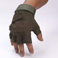 Quality Army Protective Fingerless Tactical Gloves , Military Shooting Gloves Fast Drying wholesale