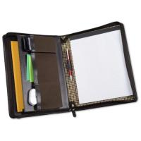 Quality Cutter & Buck American Classic Genuine Leather Mahogany Zippered Padfolio wholesale