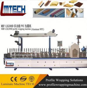 Window frame profile wrapping machine