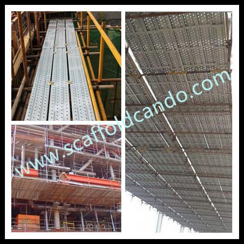 Cheap walking platform decking plank q195 galvanized for Cheap decking boards b q