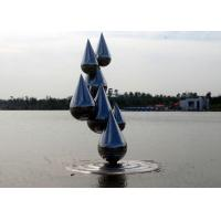 Quality Outdoor Abstract Stainless Steel Garden Sculptures , Decoration Metal Garden Ornaments wholesale