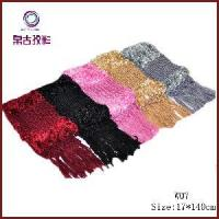China Feather Hand-Knitted Scarf Disply (W07) on sale