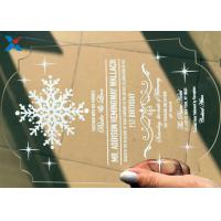 Recyclable Acrylic Gifts Luxury Laser Cut Clear Color DIY Acrylic Wedding Invitations