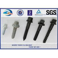 Quality Railway Sleeper Screws spike Fasteners 90 degree without crack TUV wholesale