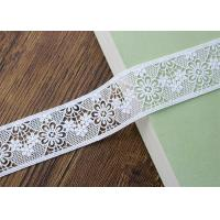 Quality Water Soluble Poly Milk Embroidered Floral Lace Ribbon Trim Customized wholesale