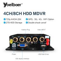 Quality High Definition 4Ch Mobile DVR 4G GPS Tracking 720P PAL / NTSC Standard wholesale