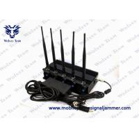 Quality Cell Phone GPS Jammer 5 High Power Antenna Outstanding Heat Dissipation wholesale