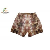China Waterproof Hawaii Brown Men Board Shorts Sublimation Printing Zipper Closure on sale