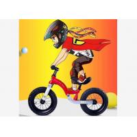 China 12  High Quality Aluminum Alloy Kids Balance Bike No Pedals With Magic Carpet Suspension System for 2-6 Years Red on sale