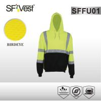Quality Color customize clothes Safety Hi Vis Fleece Hoodie with two pockets EN ISO 20471 / ANSI ISEA 107 wholesale