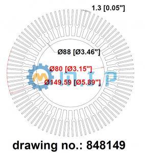 China 149mm passive round led high bay light heatsink, aluminum extrusion profiles on sale