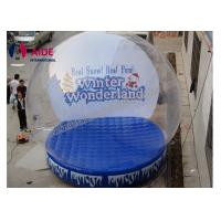 Quality Blue PVC Inflatable Holiday Decor Snow Globe For Christmas Advertise Show wholesale
