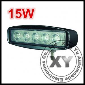 Quality 12V / 24V 15W LED Light Bar Flood Work Driving Light Bar For SUV / Off-road wholesale
