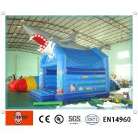 Quality Indoor Large shark inflatable bounce house , inflatable jumpers with High Density wholesale