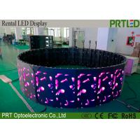 China Indoor P3.91 Curved led display screen with angle adjuster for abnormal shapes on sale