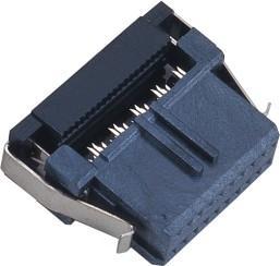 Quality 1.27*2.54mm 2* 10 Pin Idc Connector WCON  LCP 30%GF UL94V-0  Phosphor Bronze Sel Au/Sn wholesale