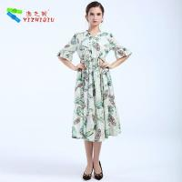 Quality Largos Casual Long Cotton Summer Dresses None Decoration For Beach wholesale