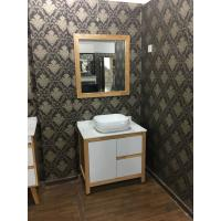 Quality Contemporary Square Sinks Bathroom Vanities With Mirror / 32 Inch White Bathroom Vanity wholesale