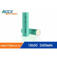 Quality 18650 3.7v 2600mAh lithium rechargeable battery for power bank, LED light,electric torch wholesale