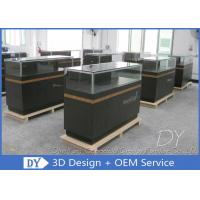 Quality 8MM Glass Thickness Store Jewelry Display Cases / Dark Gray Jewellery Counter Display wholesale