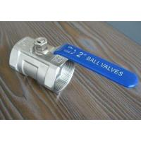 Quality A105 threaded FNPT 1000 WOG / 2000 WOG full port 2 pieces ball valve wholesale