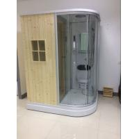 Quality Recantangel Sauna Room Bathroom Shower Cabins 2 Sided Waste Drain / Wooden Room wholesale