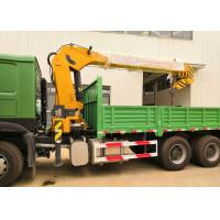 Quality 12T 6x4 Chassis Truck Mounted Boom Crane Of Sinotruk Howo7 Green Color wholesale