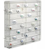 Quality acrylic golf ball display case large plexiglass display cabinet for golf ball wholesale display case wholesale