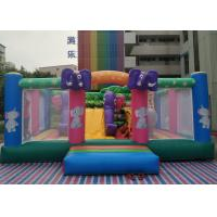 Quality Commercial 0.55MM PVC Elephant Theme Kids Inflatable Jumper With Digital Printing wholesale