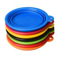 Quality Food Water Collapsible Pet Bowl , Colorful Portable Dog Bowl Collapsible wholesale