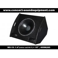 "Quality PA Sound Equipment 400W 3""+15"" Plywood Coaxial Stage Monitor For Living Event And Show wholesale"