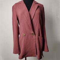 Quality Double - Breasted Casual Cotton Blazer Womens Casual Office Blazer wholesale