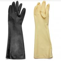 Quality Abrasion / Chemical Resistant Hand Protection Gloves Long Sleeves Natural Latex / Rubber wholesale