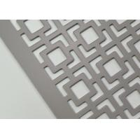 China Stainless Steel Architectural Metal Mesh , Perforated Metal Grilles No Rust High Strength on sale
